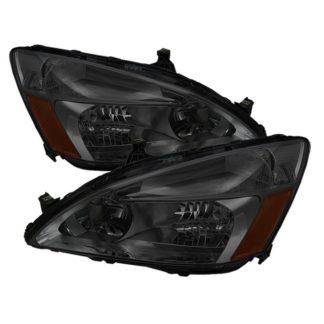 ( xTune ) Honda Accord 03-07 Amber Crystal Headlights – Smoke
