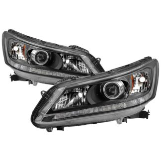 ( xTune ) Honda Accord 2013-2015 Sedan Halogen Models Only ( Don't Fit Xenon HID and Model with LED Daytime Running Light ) OEM Style Headlights – Black