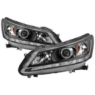 ( xTune ) Honda Accord 2013-2015 Sedan Halogen Models with LED Daytime Running Light ( Don't Fit Xenon HID ) OEM Style Headlights - Black