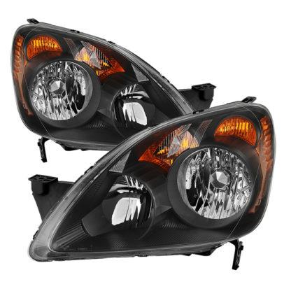 ( xTune ) Honda CRV (UK Built Models Only) 2005-2006 ( Don't Fit Japan Built Models ) OEM Style Headlights - Black