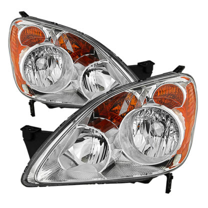 ( OE ) Honda CRV (UK Built Models Only) 2005-2006 ( Don't Fit Japan Built Models ) OEM Style Headlights - Chrome