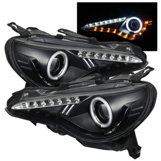Subaru BRZ 12-19 (Xenon model only) / 12-19 FRS (Xenon model only) Projector Headlights - CCFL Halo - DRL LED - Black