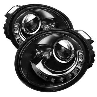 Volkswagen Beetle 1998-2005 Projector Headlights - DRL - Black