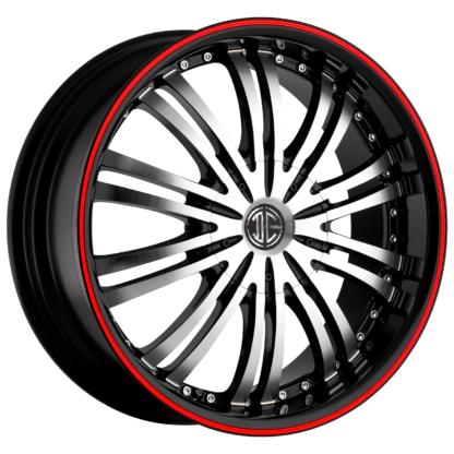 2Crave No. 01 Fiero Red Pin Stripe Custom Wheel