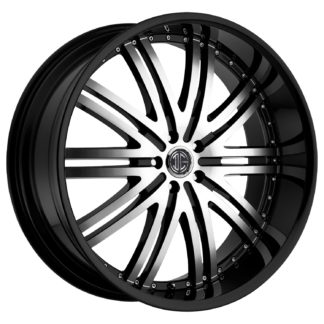 2Crave No. 11 Glossy Black / Machined Face Custom Wheel