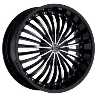 2Crave No. 19 Glossy Black / Machined Face Custom Wheel