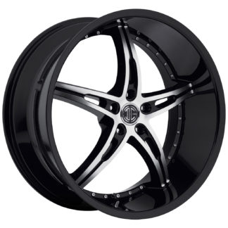2Crave No. 14 Glossy Black / Machined Face Custom Wheel