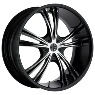 2Crave No. 02 Glossy Black / Machined Face Custom Wheel