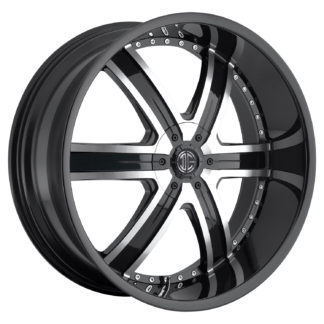 2Crave No. 04 Glossy Black Machine Custom Wheel