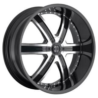 2Crave No. 04 Glossy Black Machine Custom Wheel