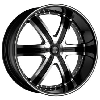 2Crave No. 04 Glossy Black Machine Stripe Custom Wheel