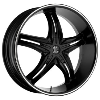 2Crave No. 05 Satin Black Machine Stripe Custom Wheel