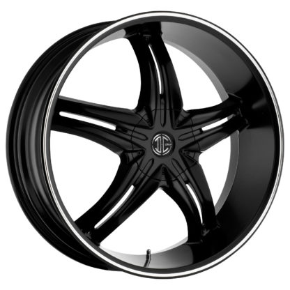 2Crave No. 05 Satin Black Machine Stripe Custom Wheel
