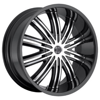 2Crave No. 07 Glossy Black / Machined Face Custom Wheel