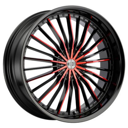 2Crave No. 26 Glossy Black / Fiero Red Face Custom Wheel