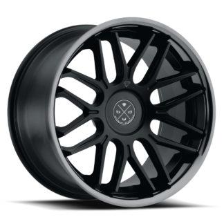 Blaque Diamond Wheel / Model BD-27 / Satin Black  w/Chrome  Lip