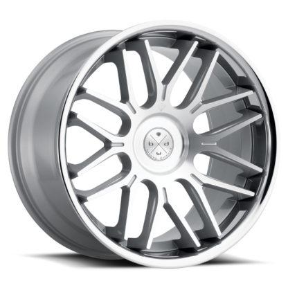 Blaque Diamond Wheel / Model BD-27 / Silver Machined Face  w/Chrome  Lip