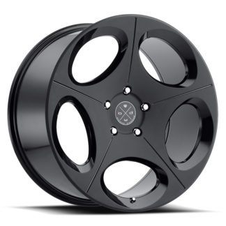 Blaque Diamond Wheel / Model BD-77  Two Tone Black