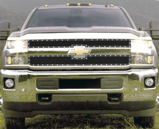 GR03LEA80H 1.8mm Wire Mesh Rivet Style Grille 2015-2018 Chevy Silverado 2500HD