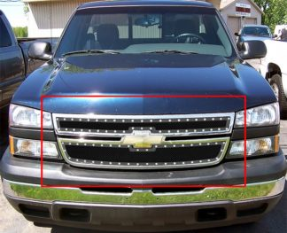 GR03LEC06H 1.8mm Wire Mesh Rivet Style Grille 2007-2007 Chevy Silverado 2500 HD