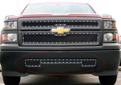 GR03LEI90H 1.8mm Wire Mesh Rivet Style Grille 2014-2015 Chevy Silverado 1500