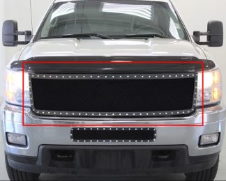 GR03LFI53H 1.8mm Wire Mesh Rivet Style Grille 2011-2014 Chevy Silverado 2500HD
