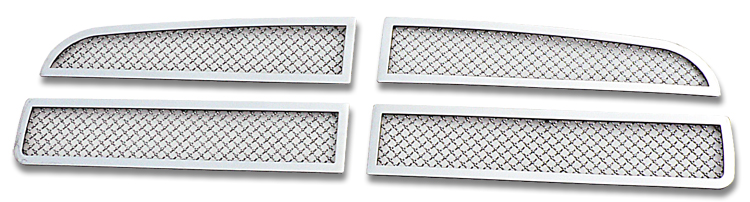 Mesh Grille 2005-2010 Dodge Charger  Main Upper Chrome Honeycomb Style
