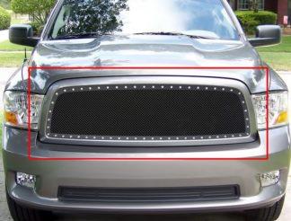 GR04LEA69H 1.8mm Wire Mesh Rivet Style Grille 2009-2012 Dodge Ram