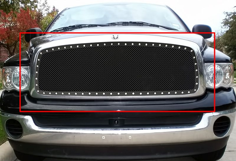 GR04LEB75H 1.8mm Wire Mesh Rivet Style Grille 2002-2005 Dodge Ram 2500