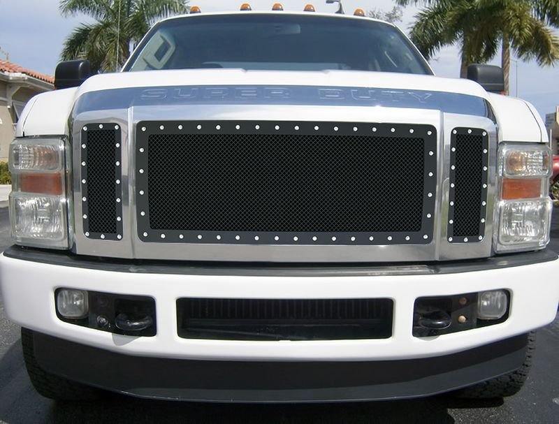 GR06LEA71H 1.8mm Wire Mesh Rivet Style Grille 2008-2010 Ford F-550