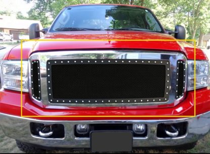 GR06LEA76H 1.8mm Wire Mesh Rivet Style Grille 2005-2007 Ford Excursion
