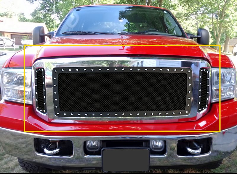 GR06LEA76H 1.8mm Wire Mesh Rivet Style Grille 2005-2007 Ford F-550