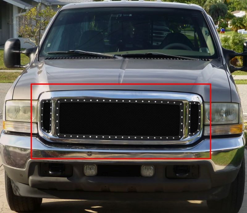 GR06LEJ86H 1.8mm Wire Mesh Rivet Style Grille 1999-2004 Ford F-550