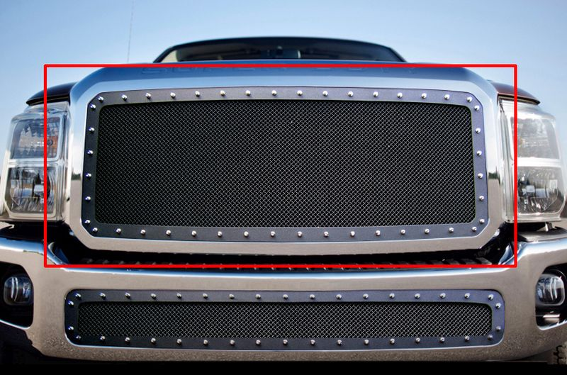 GR06LFH28H 1.8mm Wire Mesh Rivet Style Grille 2011-2016 Ford F-350 SD
