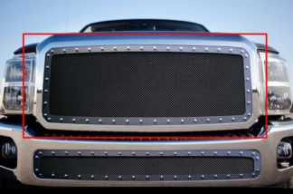GR06LFH28H 1.8mm Wire Mesh Rivet Style Grille 2011-2016 Ford F-550 SD