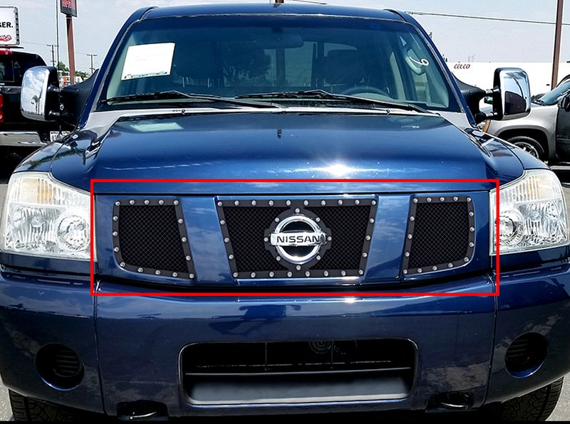 GR14LED12H 1.8mm Wire Mesh Rivet Style Grille 2004-2007 Nissan Armada