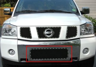 GR14LED13H 1.8mm Wire Mesh Rivet Style Grille 2004-2015 Nissan Titan