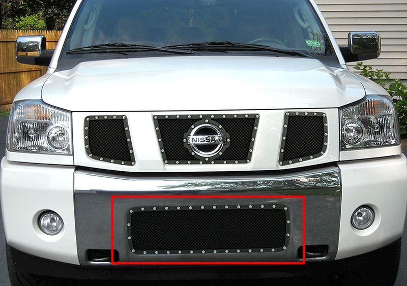 GR14LED13H 1.8mm Wire Mesh Rivet Style Grille 2004-2015 Nissan Titan