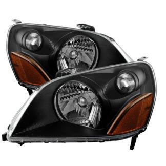 ( xTune ) Honda Pilot 03-05 Crystal Headlights - Black