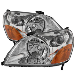 ( OE ) Honda Pilot 03-05 Crystal Headlights - Chrome