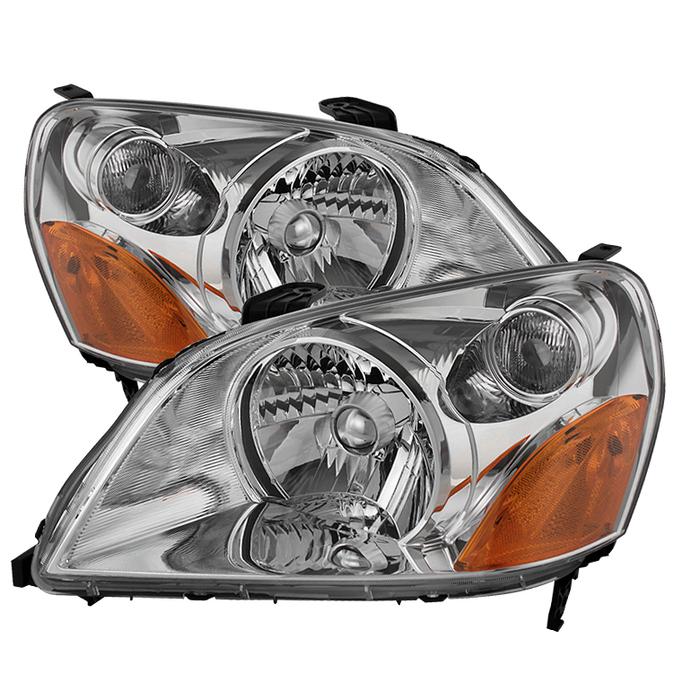 ( OE ) Honda Pilot 03-05 Crystal Headlights - Chrome