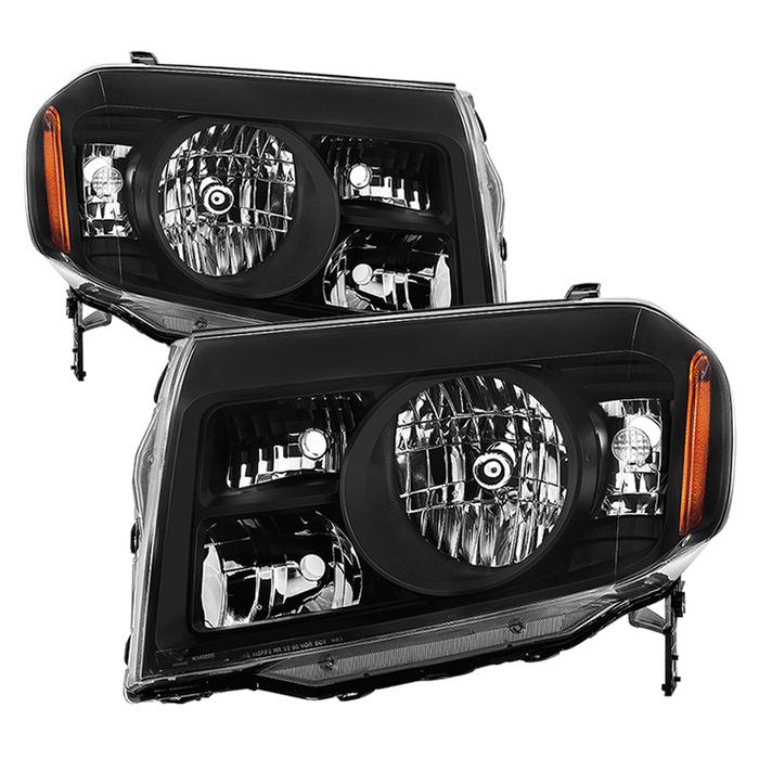 ( xTune ) Honda Pilot 2009-2011 OEM Style Headlights - Black