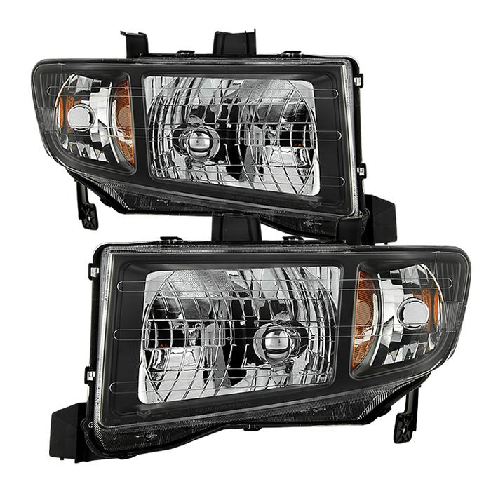 ( xTune ) Honda Ridgeline 06-13 Crystal Headlights - Black