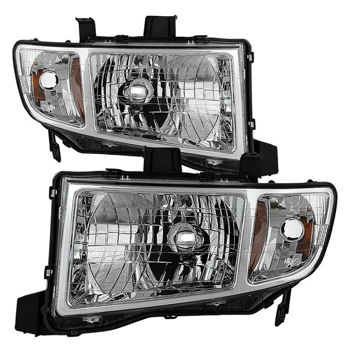 ( OE ) Honda Ridgeline 06-13 Crystal Headlights - Chrome
