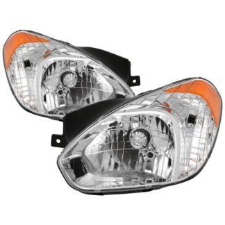 ( OE ) Hyundai Accent 2007-2011 OEM Style Headlights - Chrome