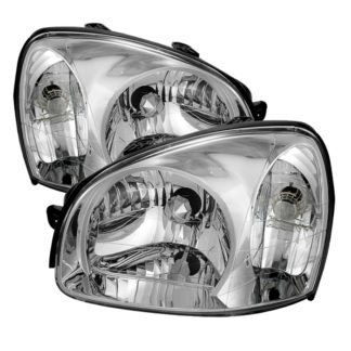 ( OE ) Hyundai Santa Fe 01-06 Crystal Headlights - Chrome