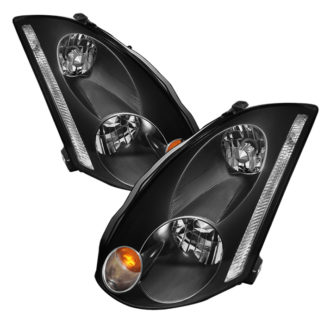 ( xTune ) Infiniti G35 03-05 Coupe Crystal Headlights - Xenon/HID Model Only ( Not Compatible With Halogen Model ) - Black