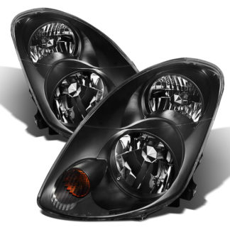 ( xTune )Infiniti G35 03-04 Sedan Crystal Headlights - Halogen Model Only ( Not Compatible With Xenon/HID Model ) - Black