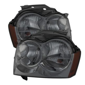 ( xTune ) Jeep Grand Cherokee 05-07Crystal Headlights – Smoke
