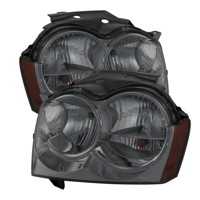 ( xTune ) Jeep Grand Cherokee 05-07Crystal Headlights - Smoke